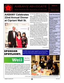 AABANY Advocate Spring 2011