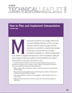 Technical Leaflet 262: How to Plan and Implement Interpretation (PDF Download)