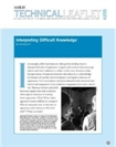 Technical Leaflet 255: Interpreting Difficult Knowledge (PDF Download)