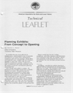 Technical Leaflet 137: Planning Exhibits: From Concept to Opening (PDF)