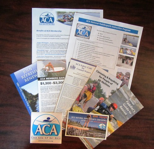 ACA Instructor Candidate Packet right folder content