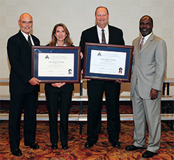 LaGrange College receives accreditation certificate in 2009.