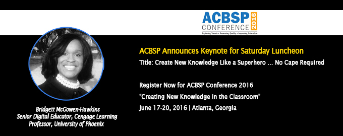 ACBSP Conference 2016 Keynote