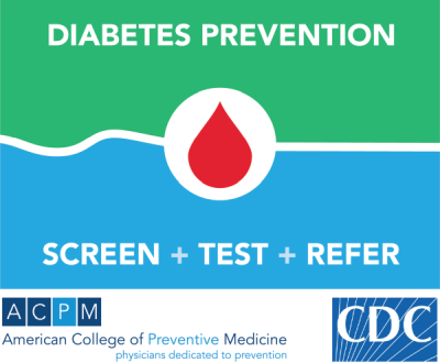 Diabetes Prevention icon, screen, test, refer