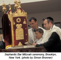 Sephardic Bar Mitzvah ceremony, Brooklyn, NY (photo: Simon Bronner)