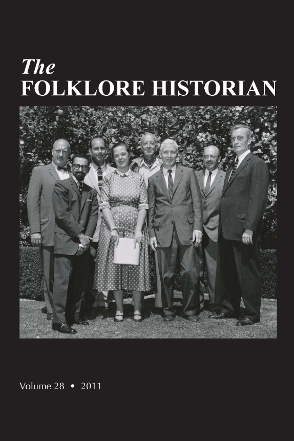 Folklore Historian Cover Vol 28 2011