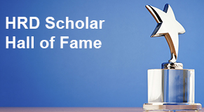 HRD scholar hall of fame award