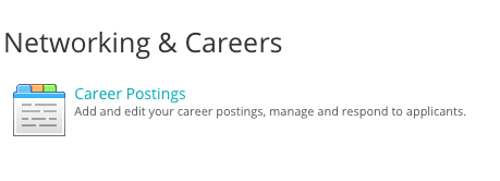 networking and careers postings