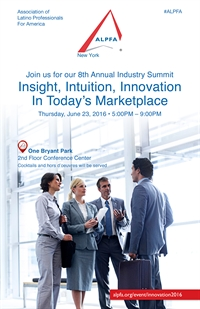 ALPFA NY Industry Summit: Innovation in Today's Marketplace