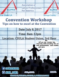 ALPFA OC Pre Convention Workshops