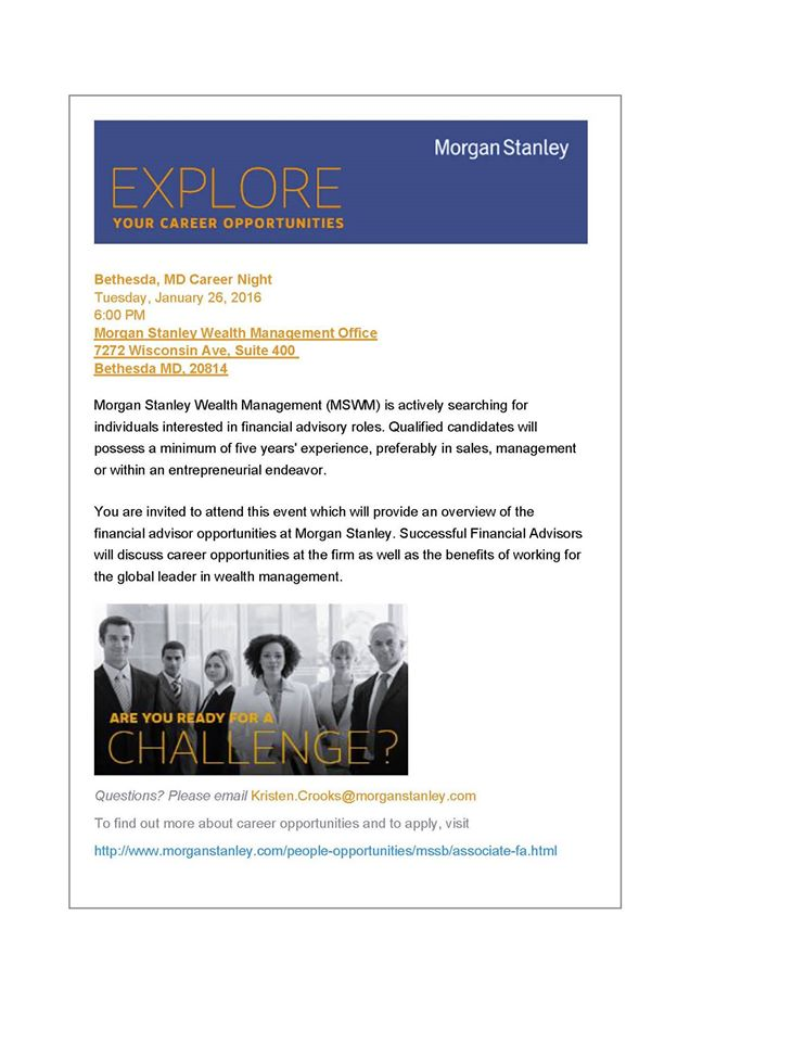 Morgan Stanley Flyer