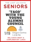 TACO with the Young Alumni Council - SENIORS ONLY