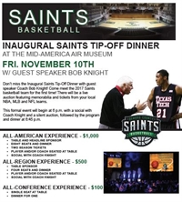 Inaugural Saints Tip-Off Dinner