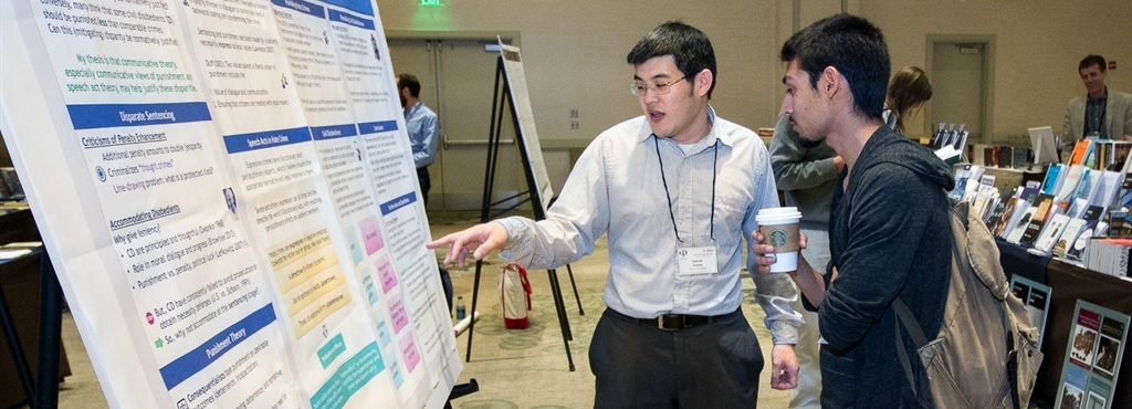 Graduate Students at Poster Session at APA Meeting