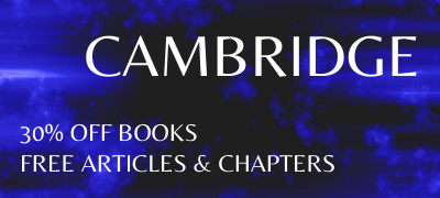 Philosophy from Cambridge:30% off Books. Free articles & chapters