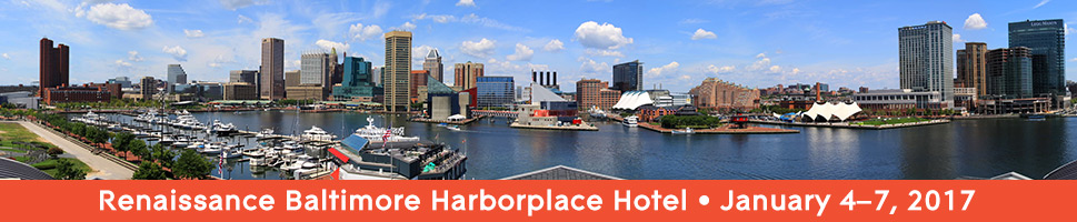2017 APA Eastern Division Meeting, Renaissance Baltimore Harborplace Hotel, January 4-7, 2017