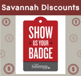 Save at Savannah restaurants with your APA meeting badge.