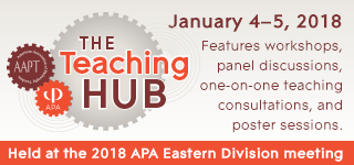The Teaching Hub: January 4-5 features workshops, panel discussions, one-on-one teaching consultations, and poster sessions.