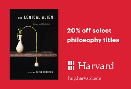 Harvard University Press. The Logical Alien cover shot. 20% off select philosophy titles.
