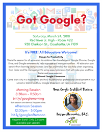Google Productivity and PPD with Google Classroom - AFTERNOON SESSION