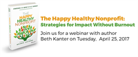 ALLIANCE WEBINAR: The Happy Healthy Nonprofit with Beth Kanter
