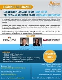 Ascend Philadelphia: Comcast & Robert Half Presents Leading the Change