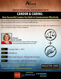 Ascend Philadelphia: Candor & Caring: How Successful Leaders Use Both to Communicate Effectively