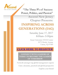Ascend NJ: The Three P's of Success: Power, Politics, and Passion (IAG)