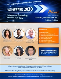 Ascend North Texas: 2017 Inspiring Across Generations: Fast Forward 2020