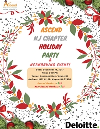 Ascend NJ Chapter's Holiday Party and Networking