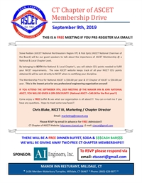 CT Chapter of ASCET Membership Drive