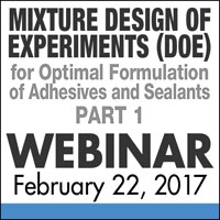 Mixture Design of Experiments - Adhesives and Sealants Webinar