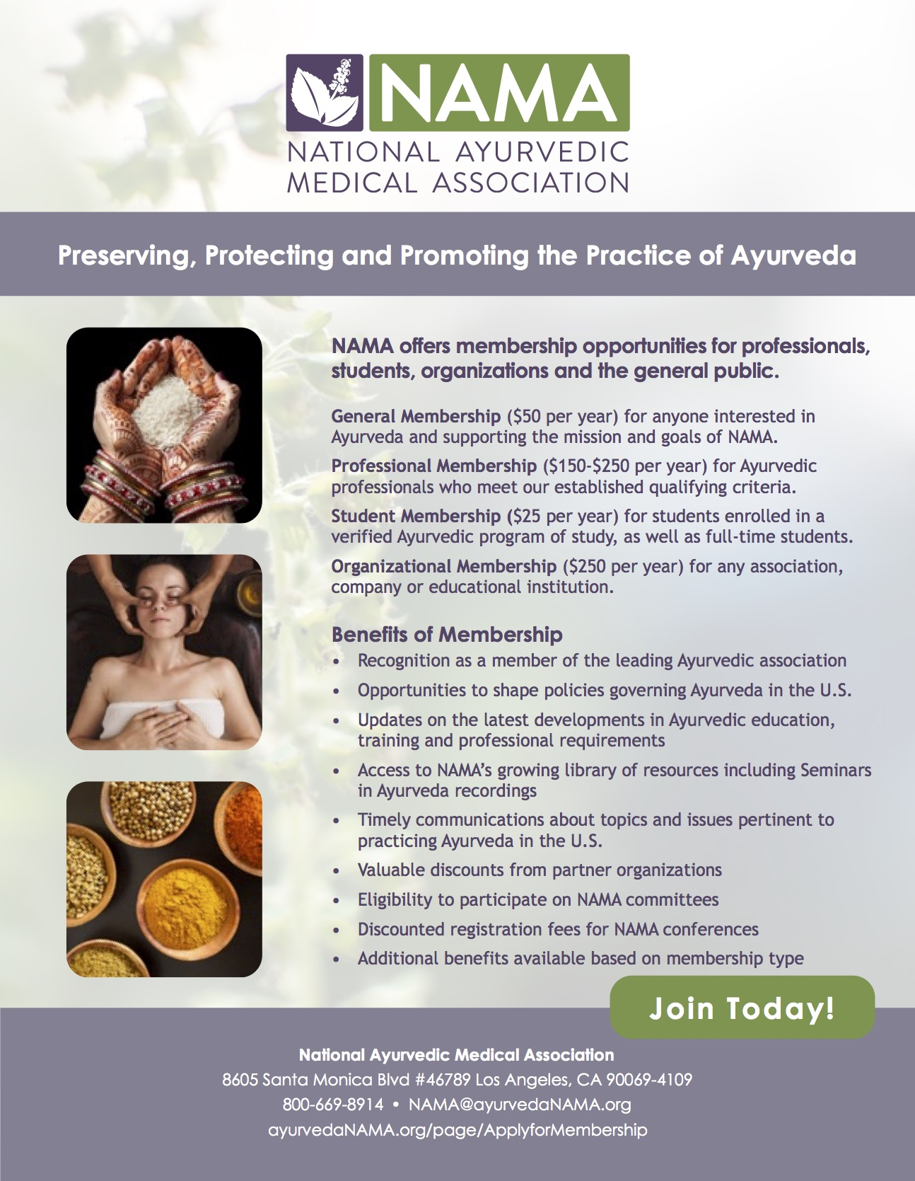 membership benefits national ayurvedic medical association advocacy