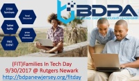 BDPA New Jersey 13th Annual Families in Technology Day @Rutgers Newark