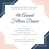 Ninth Annual Fellows Dinner