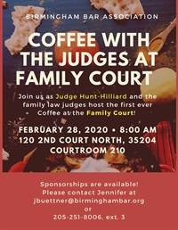 Coffee with the Family Court Judges