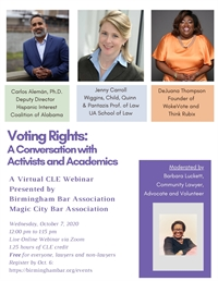 Voting Rights: A Conversation with Advocates and Academics