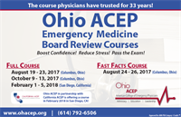 The Ohio ACEP Emergency Medicine Board Review Course