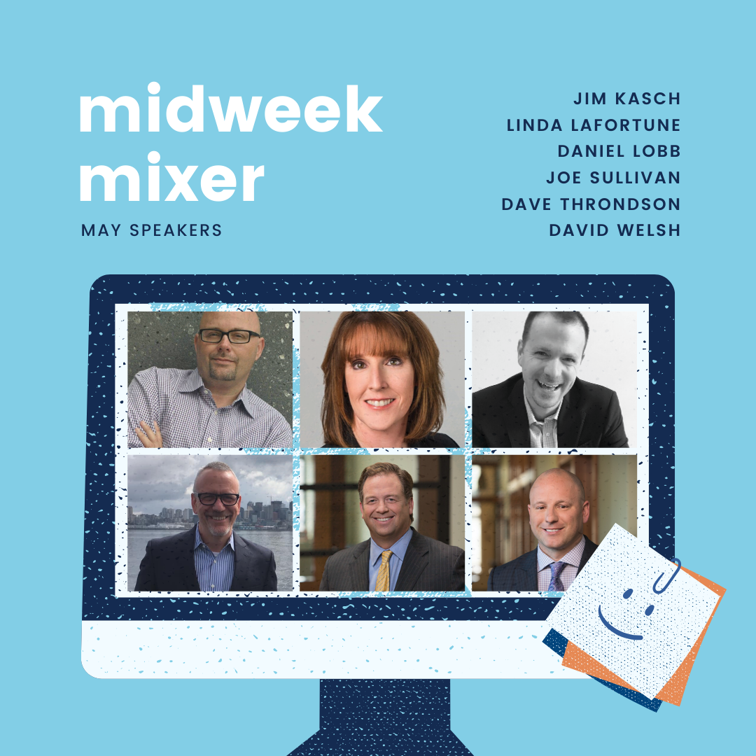 collage of midweek mixer speakers for May 2020