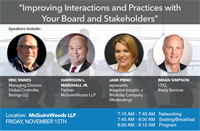 Improving Interactions & Practices with Your Board & Stakeholders by The Charlotte CFOLC