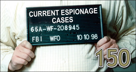 150: Current Counterespionage Cases