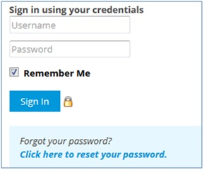 Password reset link on signin page