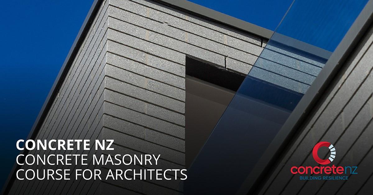 Concrete Masonry Course for Architects