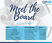 Meet the Board - Round Table Series - Labour Relations Lounge (Halifax)