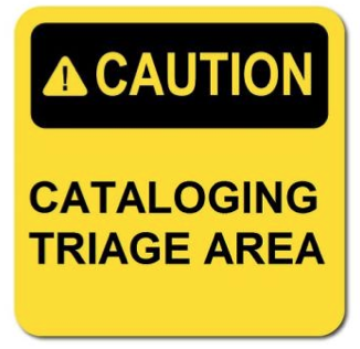 cataloging triage graphic