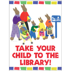 Take Your Child to the Library poster