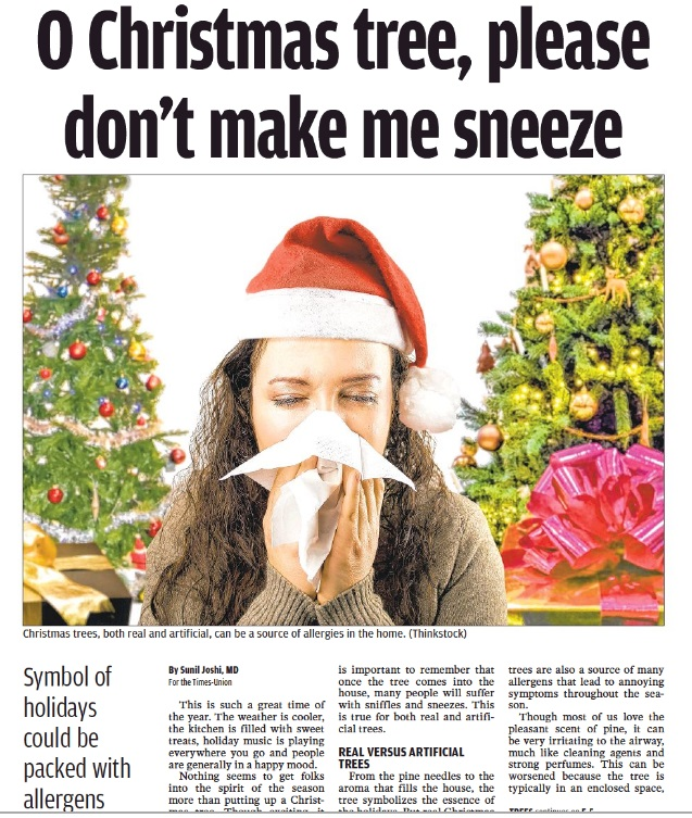 How to combat allergies to Christmas trees- real AND artificial ...