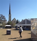 Soundwalk in Charleston, listening ot the food festival on the green.