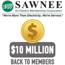 Sawnee EMC board approves $10 M retirement of patronage capital
