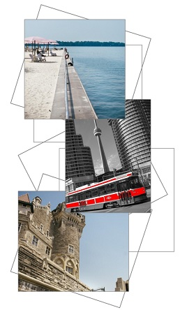 3 images of toronto city scape
